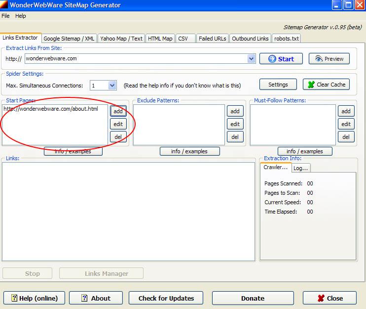 Web Sitemap Page: Wonderwebware Sitemap Generator 0.95 : Haiprecfa